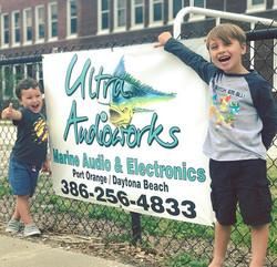 Representing at the little mans Elementary school! #teamultraaudioworks #ultraaudioworks #portorange