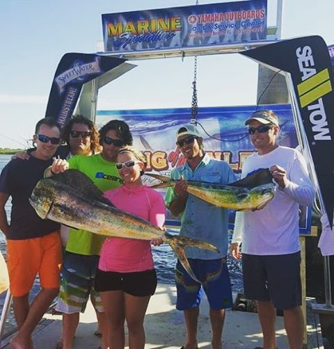 Team Ultra Audioworks on the Seadated weighing in at the King of the Inlet tourney last week! Nothin