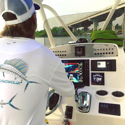 That feeling you get when you grab the helm for the first time after a complete electronics upgrade!