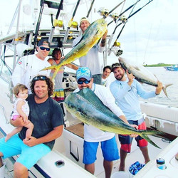 How we do on the Sedated!!! ☀️🚤💨🎣🎣🐬Weighed some nice Mahi this past weekend for King of The Inl