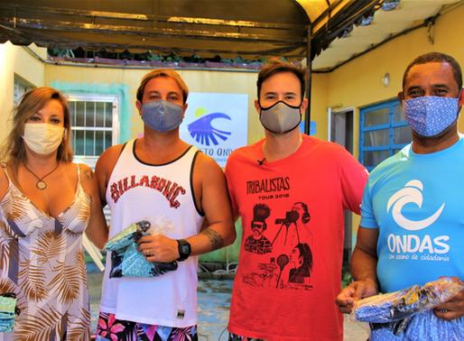 Projeto Ondas recebe doação de 2 mil máscaras de empresas da iniciativa privada