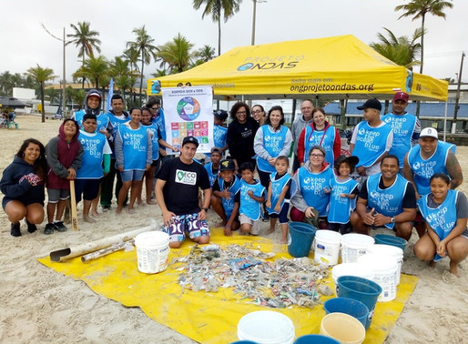 Projeto Ondas promove mutirão de limpeza na Praia da Enseada nesta quarta-feira (12)