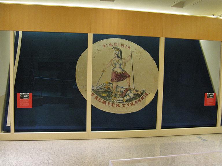 Last flag over state Va capitol.jpg