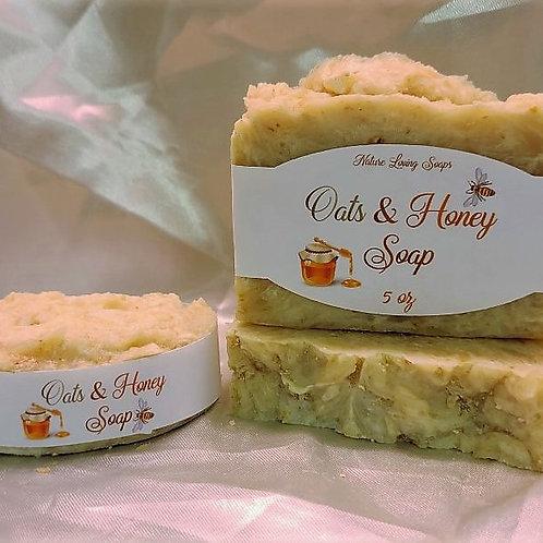 Oatmeal, Honey & Goats Milk Soap (unscented)