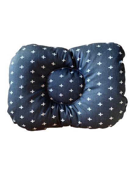 Almofada de braço para apoio do bebê na amamentação cruzetas