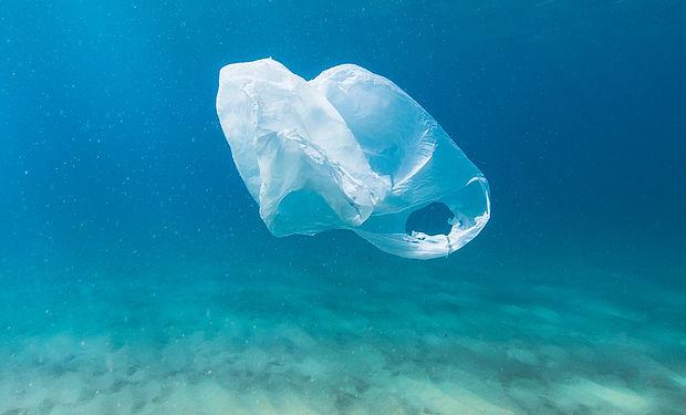 Plastic Bag in Ocean