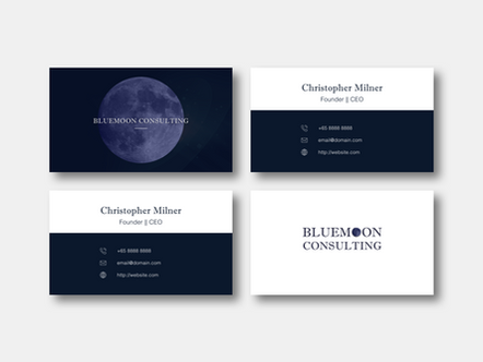 Bluemoon Name Card