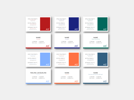 Color Block Name Card