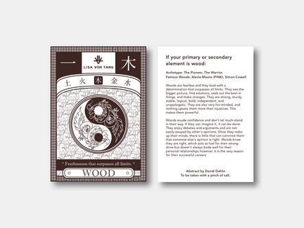 Fengshui Wood Postcard