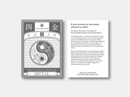 Fengshui Metal Postcard