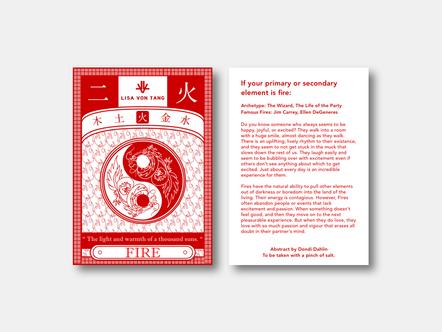 Fengshui Fire Postcard