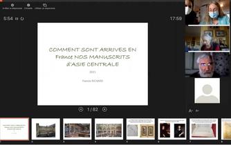 Conférence video Francis Richard: Comment sont arrivés en France nos manuscrits d'Asie Centrale