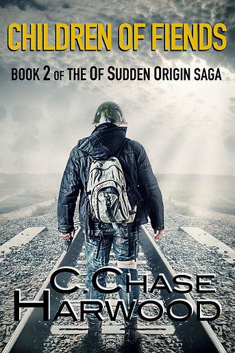 The cover for th book Children of Fiends, Book 2 of th Of Sudden Origin saga, Best Zombie Book