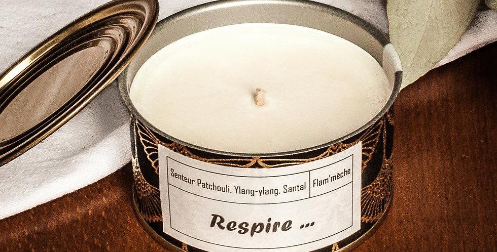 Bougie senteur Patchouli, ylang-ylang, bois de santal