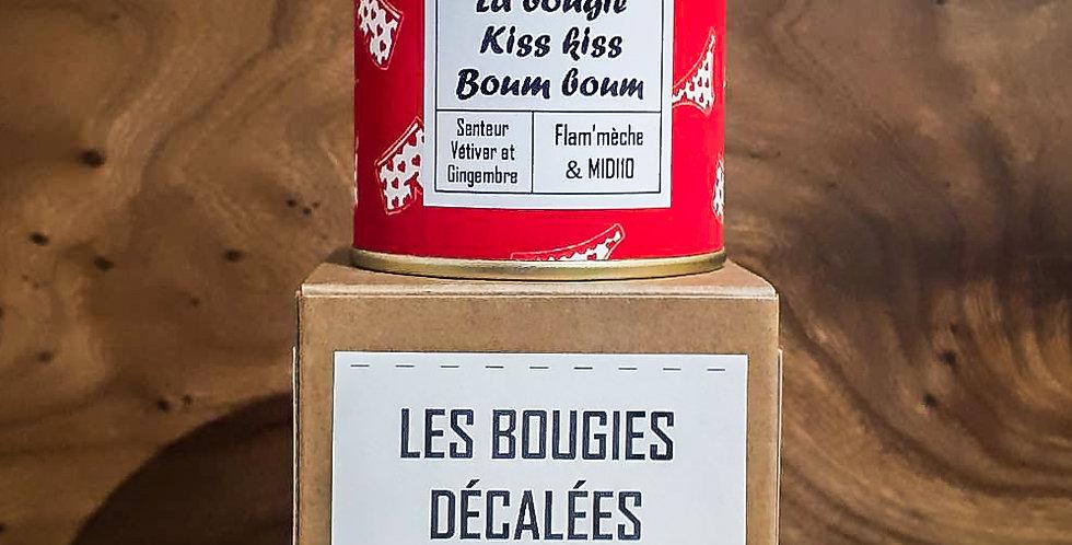La bougie Kiss kiss Boum boum - Senteur Vétiver et gingembre