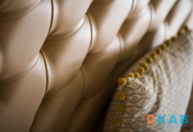 Faux leather diamond back booth seating