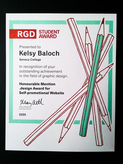 RGD .DESIGN HONOUR AWARD