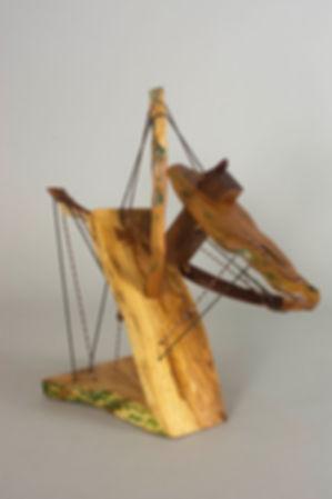 Odysseus No 4, Wood, Handmade String, Oi