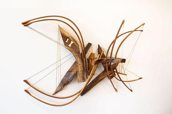 Icarus No. 11, Wood, Handmade String, Oi