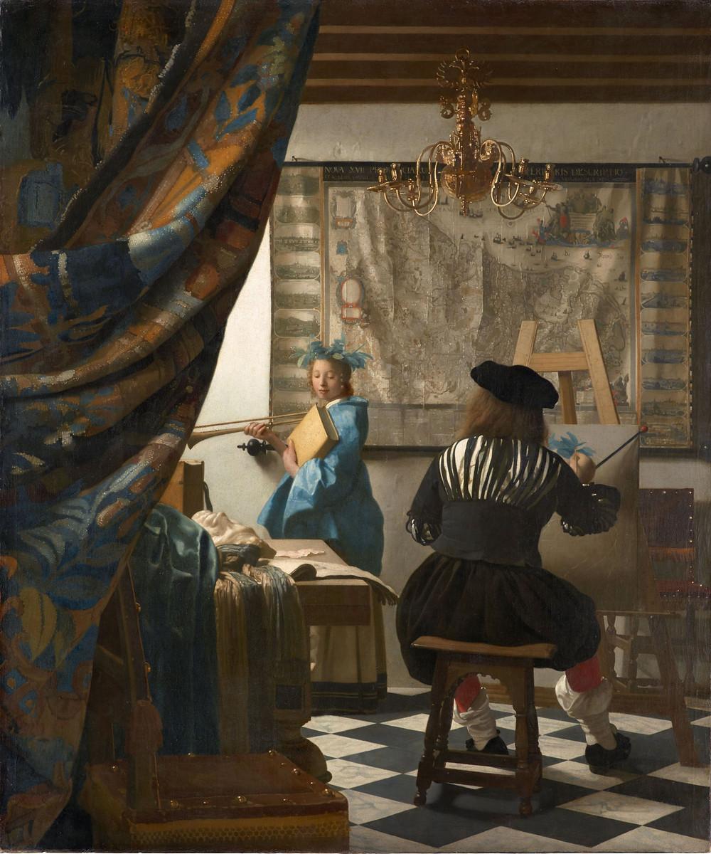 """Johannes Vermeer. """"El arte de la pintura"""""""