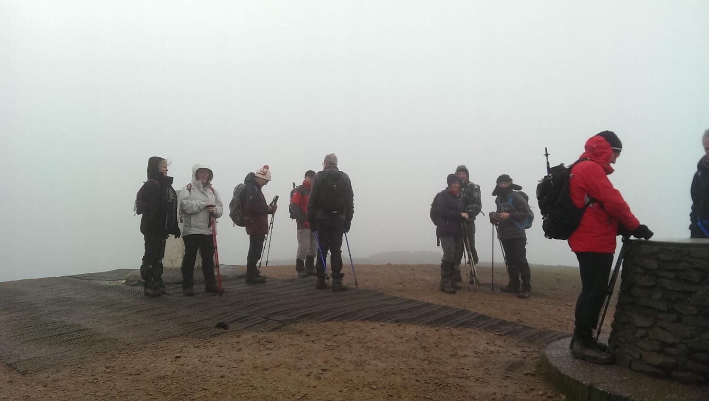 The Wrekin, at the top