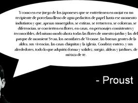 Un poco de Proust para detonar la creatividad