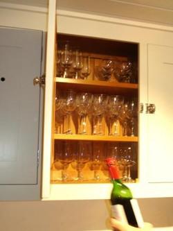 wine open top cupb