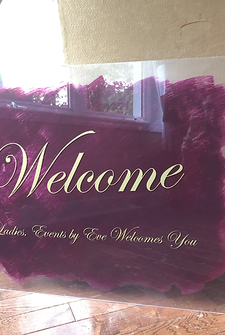 Painted Acrylic Sign