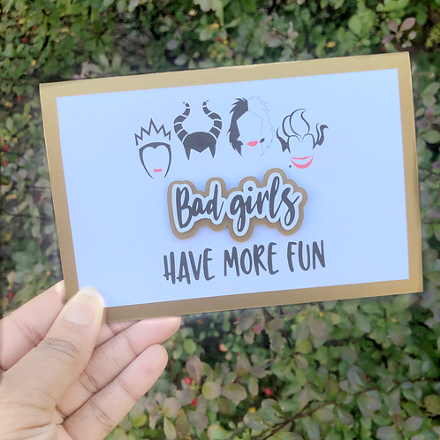 Bad Girls Have More Fun Evil Queen Inspired Greeting Card