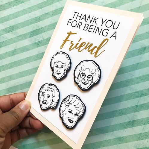 Golden girls inspired greeting card