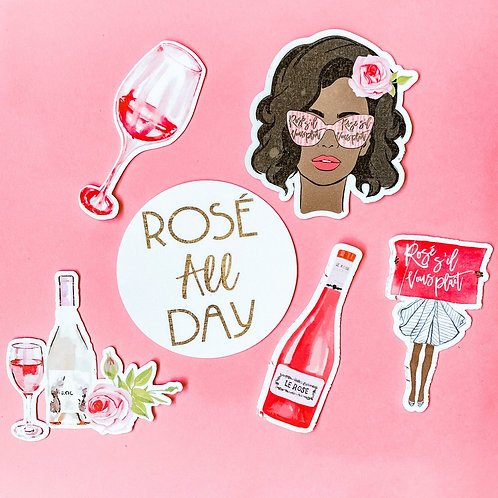 Rosé All Day Stickers (set of 6)