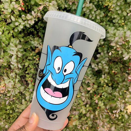 Genie Inspired Starbucks Cold Cup with Name