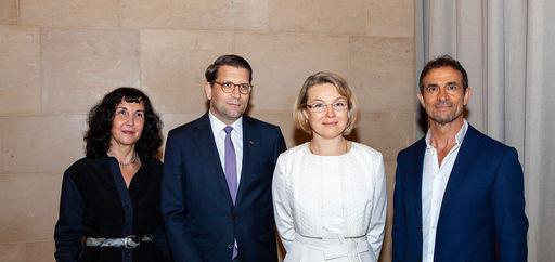 Myriam Mazouzi, Alexander Neef, Natalia Logvinova Smalto et Thomas Kouros Vidal. © Philippe Provoly