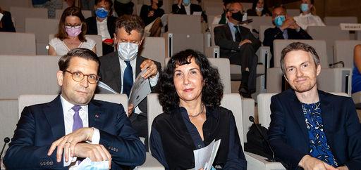 Myriam Mazouzi, Alexander Neef et Alexandre Tharaud. © Philippe Provoly