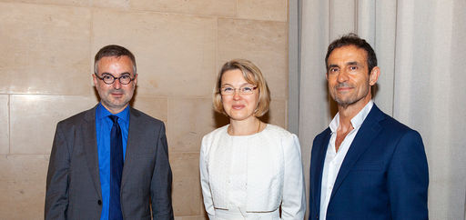 Simon Cnockaert, Natalia Logvinova Smalto et Thomas Kouros Vidal. © Philippe