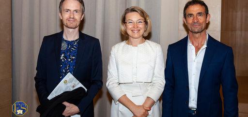 Alexandre Tharaud, Natalia Logvinova Smalto et Thomas Kouros Vidal. © Philippe Provoly
