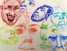Crayon Facial Expressions 1