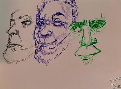 Crayon Facial Expressions 3
