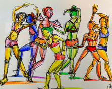 Crayon Action Shot Sketches