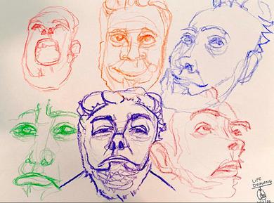 Crayon Facial Expressions 2