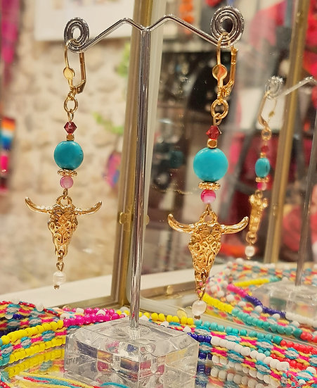 Boucles d'oreilles Nomade Love - Collection Boho Love