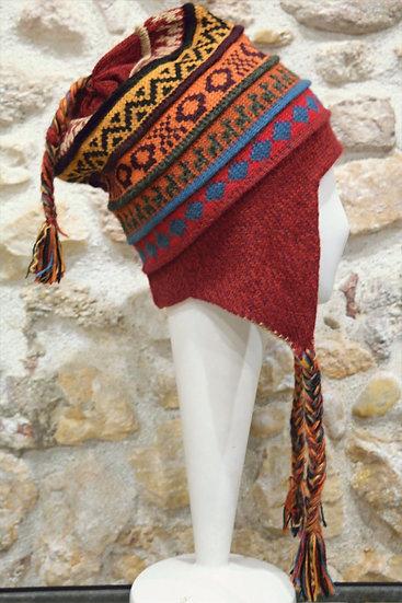 Bonnet péruvien en alpaga réversible Chivay