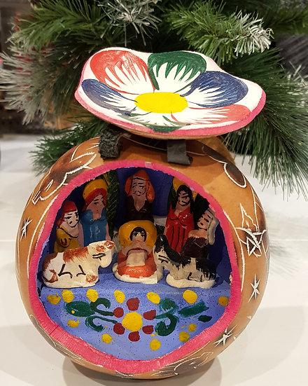 Crèche Mate Grande - Noël à la Montagne