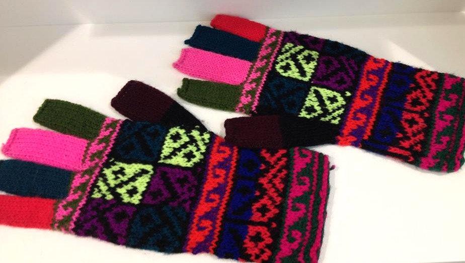 Mitaines Huancavelica  fait-main laine