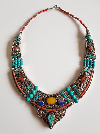 Collier Plastron Boho Vintage Tradition