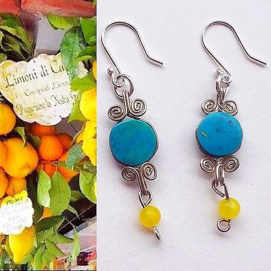 Boucles d'oreilles Limone- Collection Capri Bohème