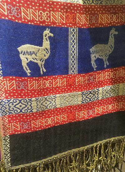 Étole Blue Lama