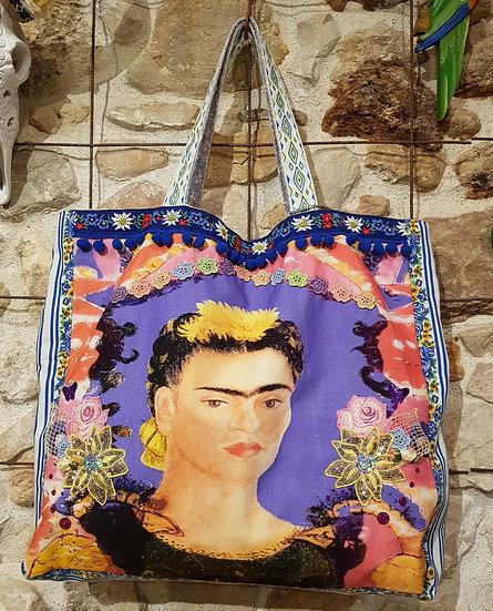 """Sac Cabas """"Le Cadre de Frida Kahlo"""""""