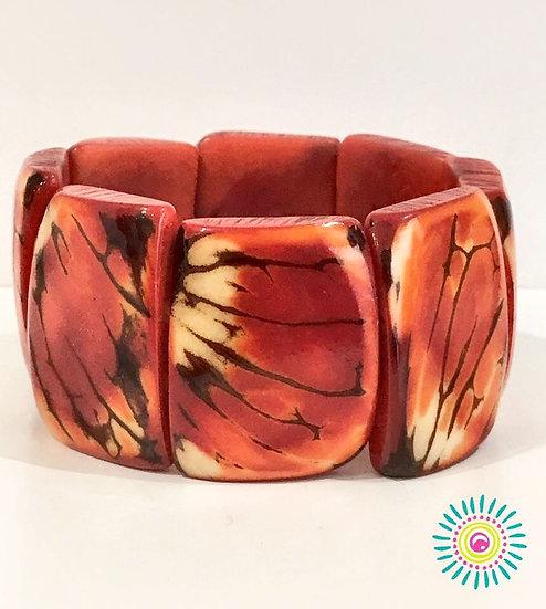 Bracelet Tagua Desierto Rojo
