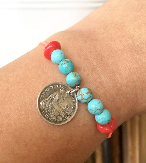 Bracelet Monnaie Vintage